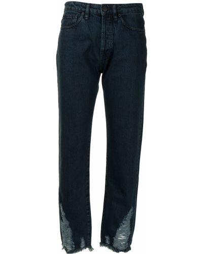 Синие укороченные джинсы 3x1