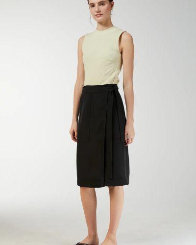 Шелковая юбка миди - синяя Arket