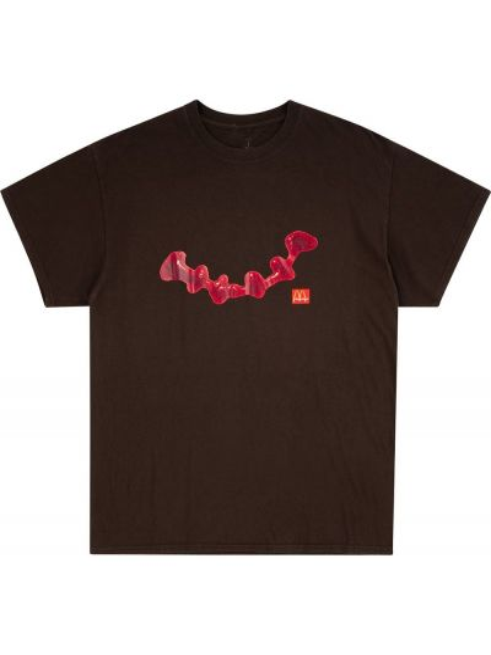 Czarny t-shirt bawełniany krótki rękaw Travis Scott Astroworld