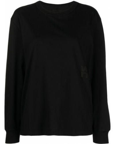 Черная футболка с круглым вырезом Alexanderwang.t