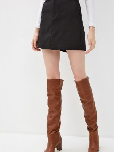Клубная черная юбка карандаш с рукавом 3/4 Concept Club