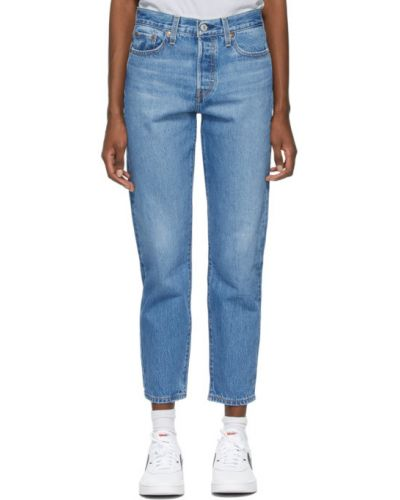 Кожаные синие джинсы стрейч Levi's®