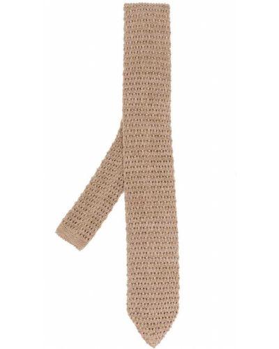 Вязаная бежевая шелковая резинка для волос Missoni