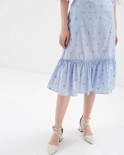 Голубая юбка весенняя Adl