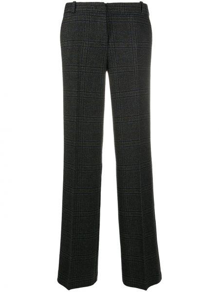 Хлопковые серые прямые брюки с потайной застежкой Drumohr