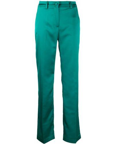 Зеленые прямые брюки с высокой посадкой с потайной застежкой Hebe Studio
