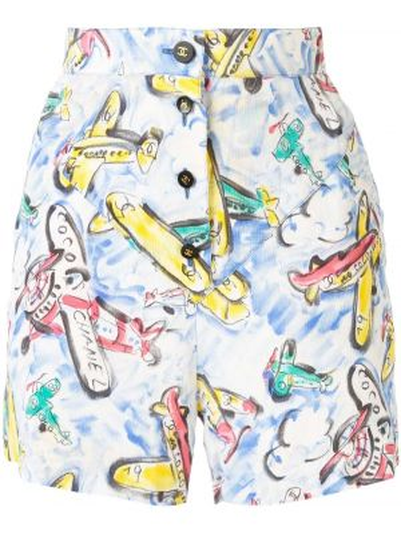 Шелковые шорты на пуговицах Chanel Pre-owned