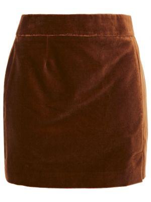 Шерстяная юбка мини - коричневая Bella Freud