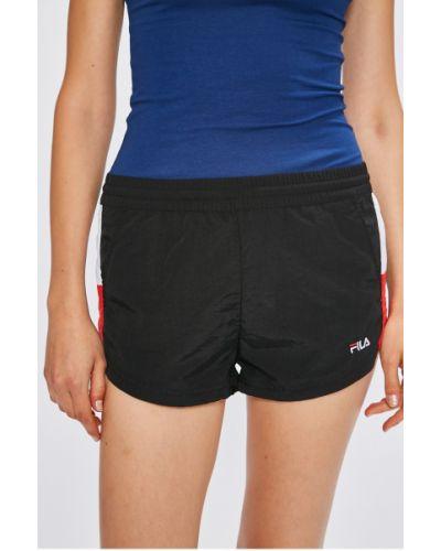 Спортивные шорты на резинке черные Fila