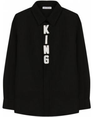 Рубашка черная на пуговицах Dolce & Gabbana
