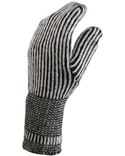 Кожаные перчатки шерстяные митенки Foxriver