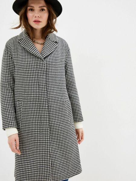 Черное пальто с капюшоном Zarina