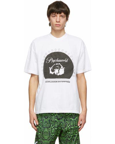 Biały t-shirt krótki rękaw bawełniany Psychworld