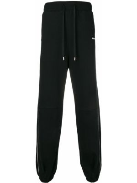 Czarne spodnie z wysokim stanem bawełniane Ader Error