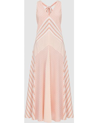 Розовое шелковое платье макси Loro Piana