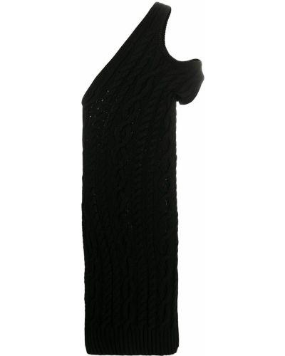 Асимметричное вязаное платье в рубчик без рукавов Telfar
