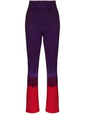 С завышенной талией фиолетовые вязаные укороченные брюки The Elder Statesman