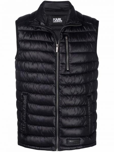 Жилетка с карманами - черная Karl Lagerfeld