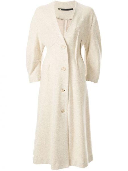 Однобортное длинное пальто с капюшоном на пуговицах Muller Of Yoshiokubo