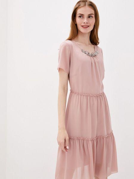 Прямое розовое платье Vera Moni