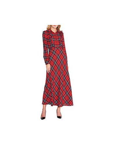 Повседневное платье из вискозы красный ли-лу