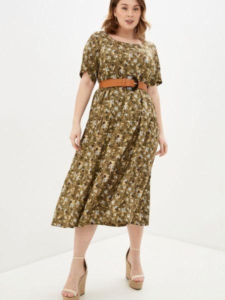 Повседневное платье хаки Intikoma