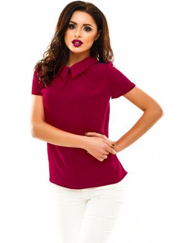 Блузка с коротким рукавом бордовый повседневная Lacywear