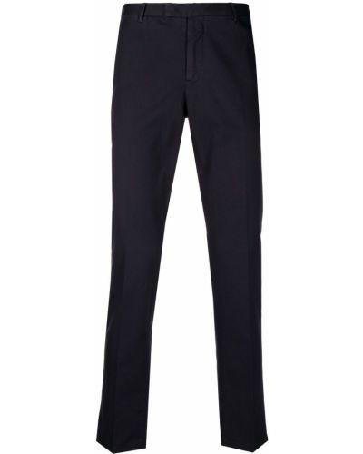 Хлопковые синие брюки на пуговицах Pt01