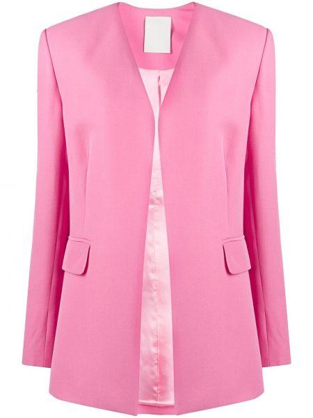 Шерстяной розовый пиджак с карманами Seen Users