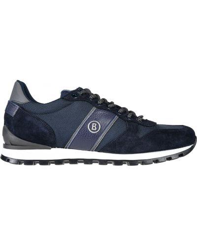 Кроссовки замшевые синий Bogner