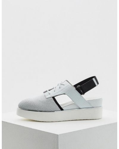 Белые кожаные туфли с открытой пяткой United Nude