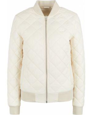 Прямая бежевая стеганая куртка двусторонняя Lacoste