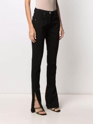 Расклешенные черные джинсы с нашивками Blumarine