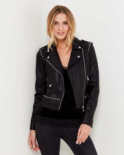 Кожаная куртка черная весенняя Motivi