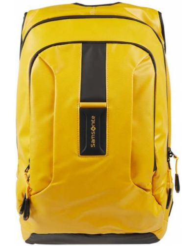 Żółty plecak na laptopa w paski Samsonite