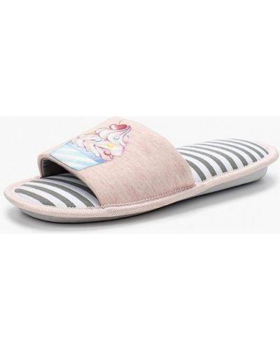 Тапочки искусственный розовый Modis