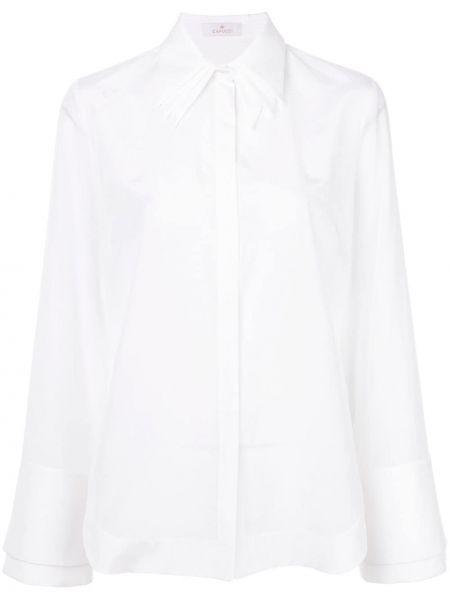 Biała koszula bawełniana rozkloszowana Capucci