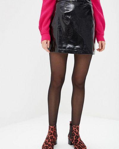 Кожаная юбка осенняя Glamorous