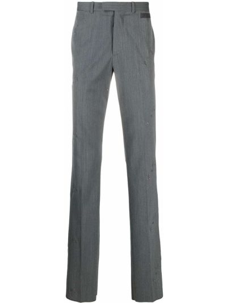 Wełniany spodni spodnie z paskiem Off-white