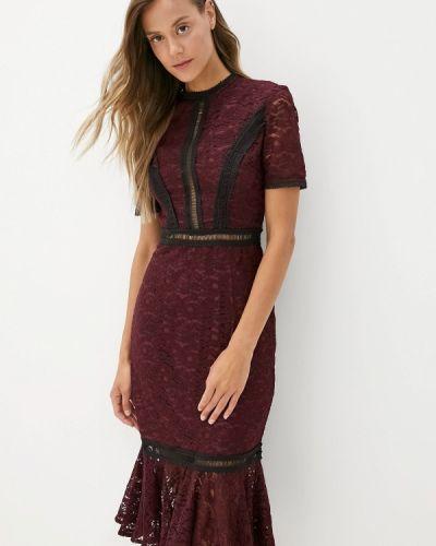 Вечернее платье осеннее фиолетовый Chi Chi London