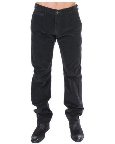 Czarne spodnie sztruksowe Gf Ferre