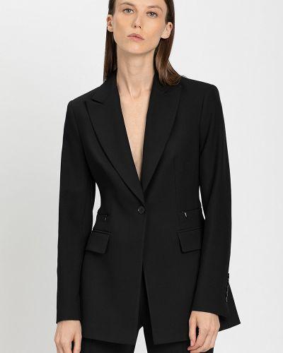 Приталенный пиджак - черный Vassa&co