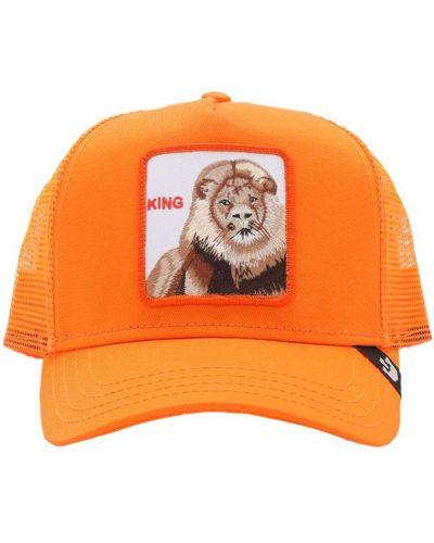Pomarańczowy baseball z paskiem kapelusz z haftem Goorin Bros