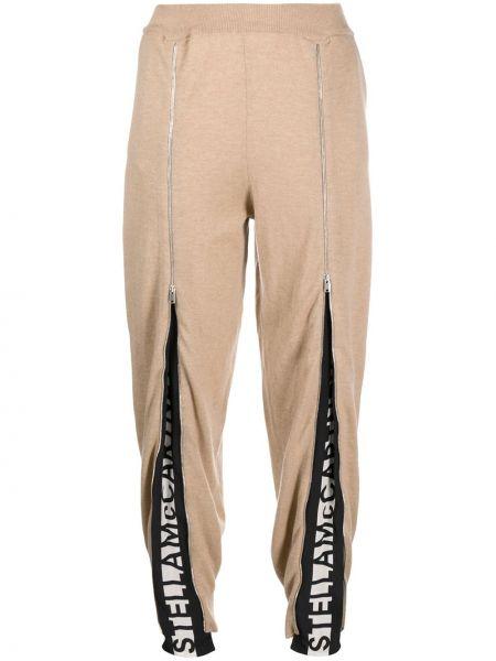 Sportowe spodnie przycięte wełniane Stella Mccartney