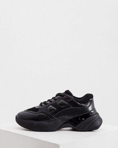Кожаные черные кроссовки Pinko