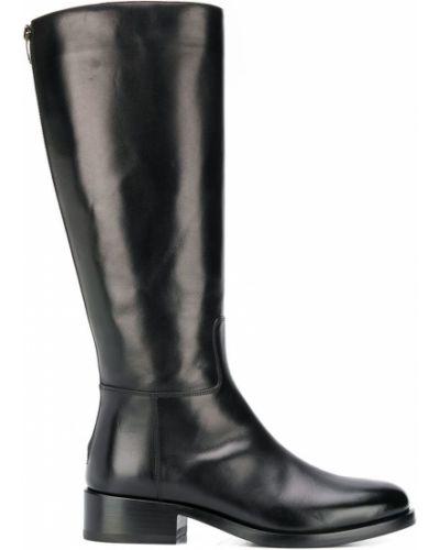 Ботинки на каблуке черные Vittorio Virgili