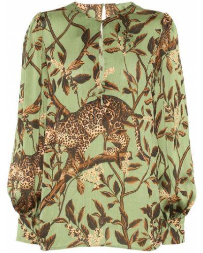 Блузка батник зеленый Johanna Ortiz