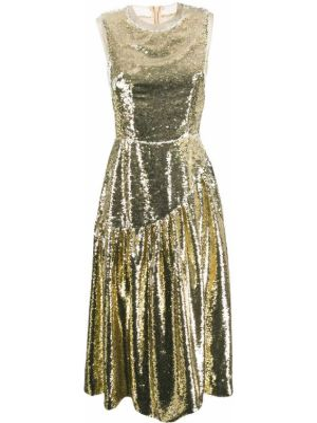 Платье миди с пайетками на молнии Simone Rocha