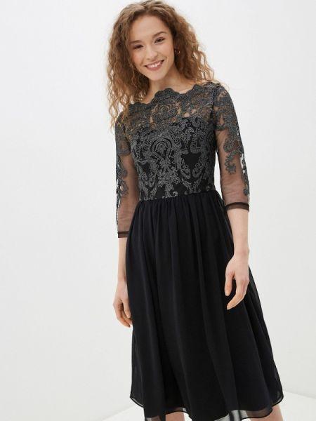 Вечернее платье черное весеннее Chi Chi London