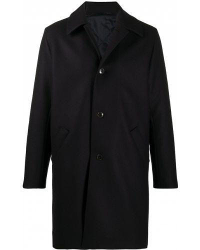 Синее шерстяное пальто с воротником на пуговицах A Kind Of Guise
